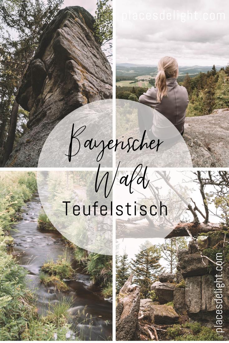 Der #Teufelstisch im Bayerischen Wald bei #Bischofsmais ist eine leichte Rundwanderung. Die Route führt dich auf verwunschenen Pfaden durch den unberührten Wald zu einer gigantischen Felsformation. Der Granitfelsen ist ein bedeutendes Geotop in Bayern. Auf ca. 900 Metern Höhe wirst du zudem auf einem Aussichtsplateau mit einem Traumblick über den #Bayerischer Wald belohnt. Bischofsmais befindet sich in der Nähe vom Großen Arber, dem höchsten Berg im Bayerischen Wald. Alle Infos auf meinem Blog.