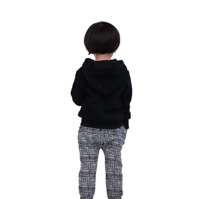 7d8b62b9c Cool COSPOT Baby Boys Girls Hoodies Boy Girl Plain Black Sweatshirt ...
