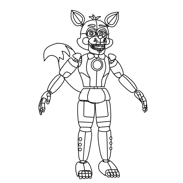 Funtime Foxy Coloring Pages Funtime Foxy 2d Art Thingy Download Free Best Quality On Clipart Email Fnaf Coloring Pages Super Coloring Pages Coloring Pages