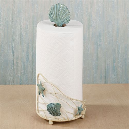 Coastal Paper Towel Holder Interesting Sea Breeze Metal Paper Towel Holder  Paper Towel Holders Towel Decorating Design