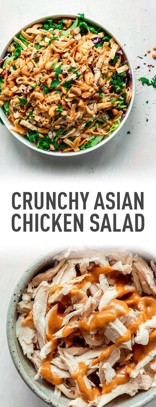 Salade asiatique croquante au poulet