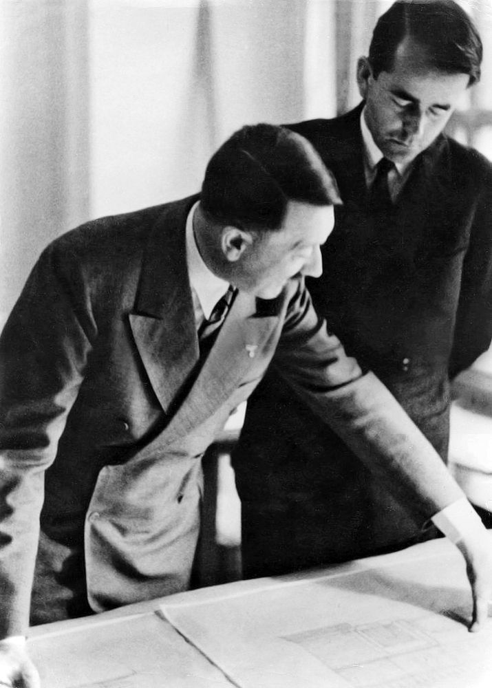One of the best-ever photos of Hitler and Speer, 1935.