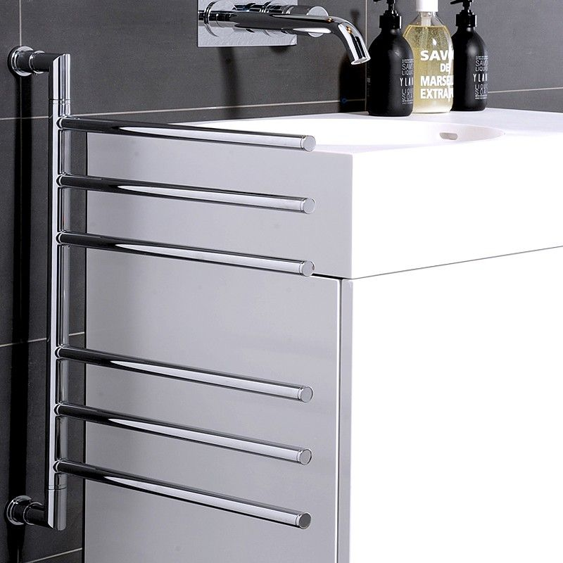 Heated Towel Rail Height From Floor: Hydrotherm Swivel 2 Model Heated Towel Rail