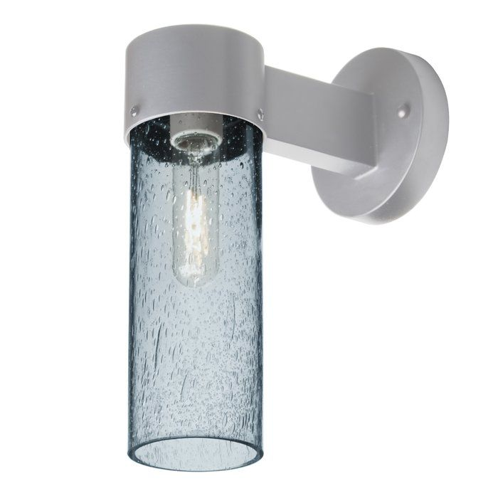 This Cattalina 1 Light Outdoor Sconce Is Composed Of A Bracket And Glass Cylinder With An Interesting Bubble Patte Outdoor Wall Sconce Outdoor Sconces Sconces
