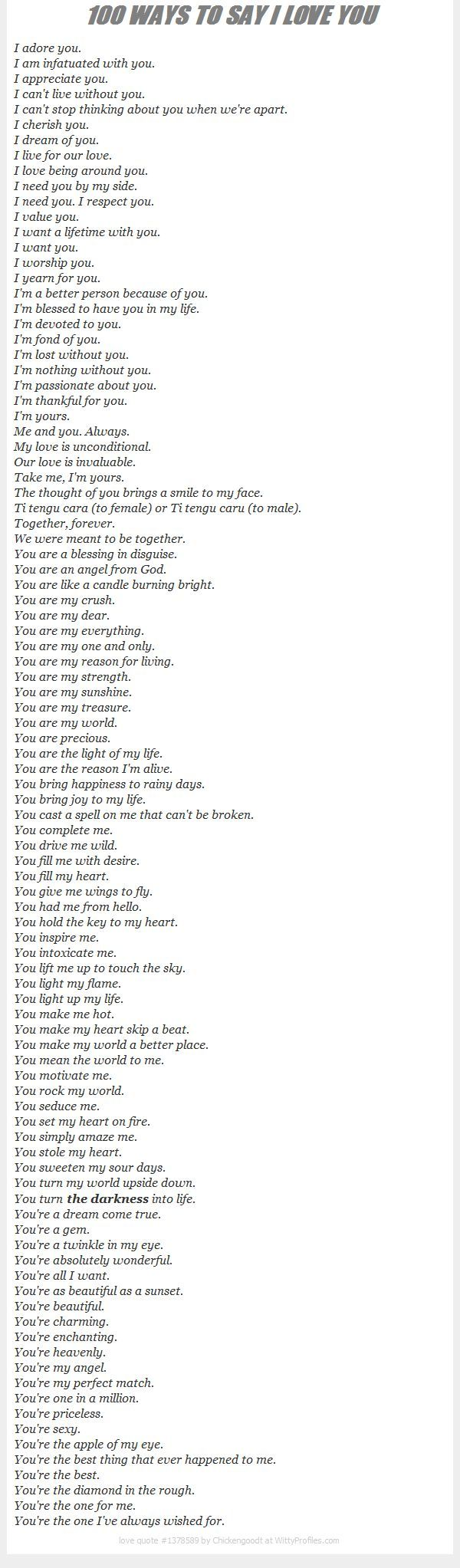 100 ways to say i love you relationships romance and 100 ways to say i love you hexwebz Gallery
