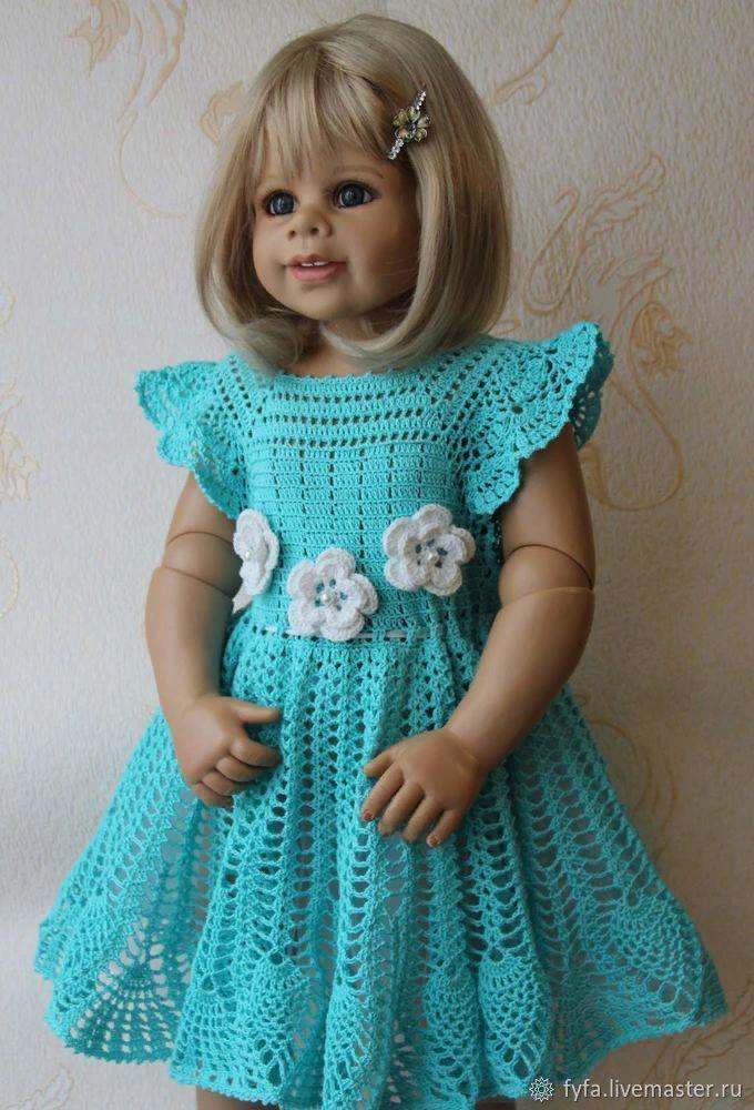 Мастер-класс смотреть онлайн: Вяжем платье для девочки ...