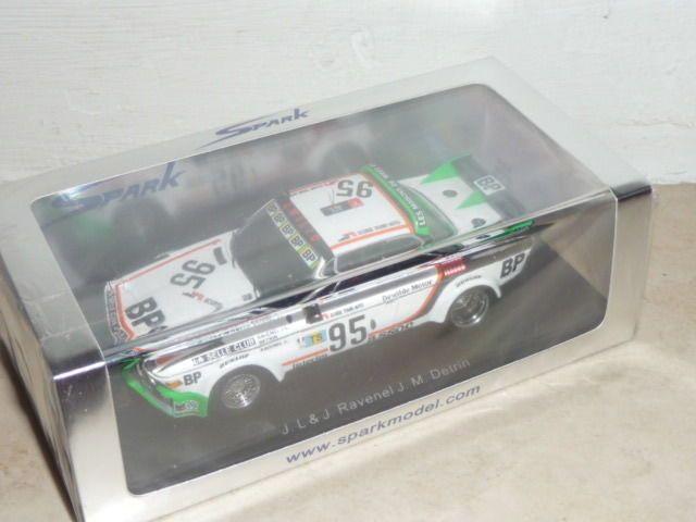 BMW 3.0 CSL Gr2 Ecurie Tours Auto Le Mans 1976 #95 Spark S1569 1:43