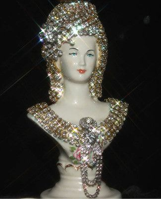 Victorian Art Deco Fountain Lamp Jeweled Porcelain Lady Bust Table Chandelier | eBay