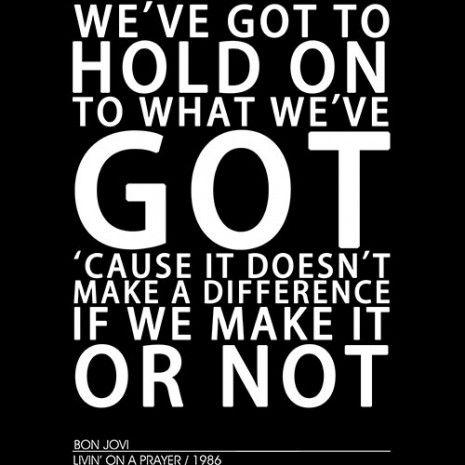 c3e813557 Bon Jovi Living on a Prayer Lyrics T-Shirt   Classic Rock!!   Lyrics ...