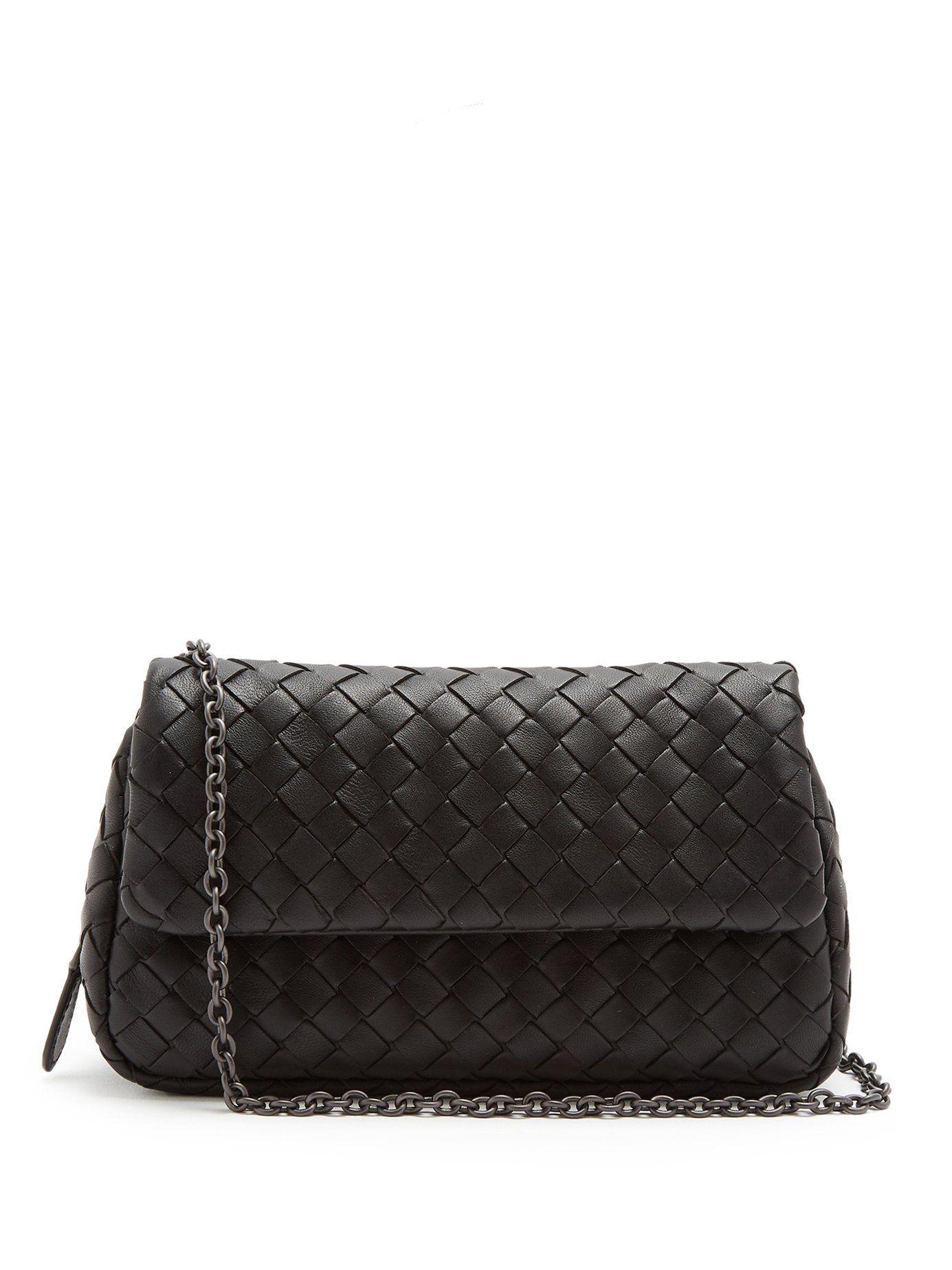 5cdaf576cc Intrecciato mini leather cross-body bag