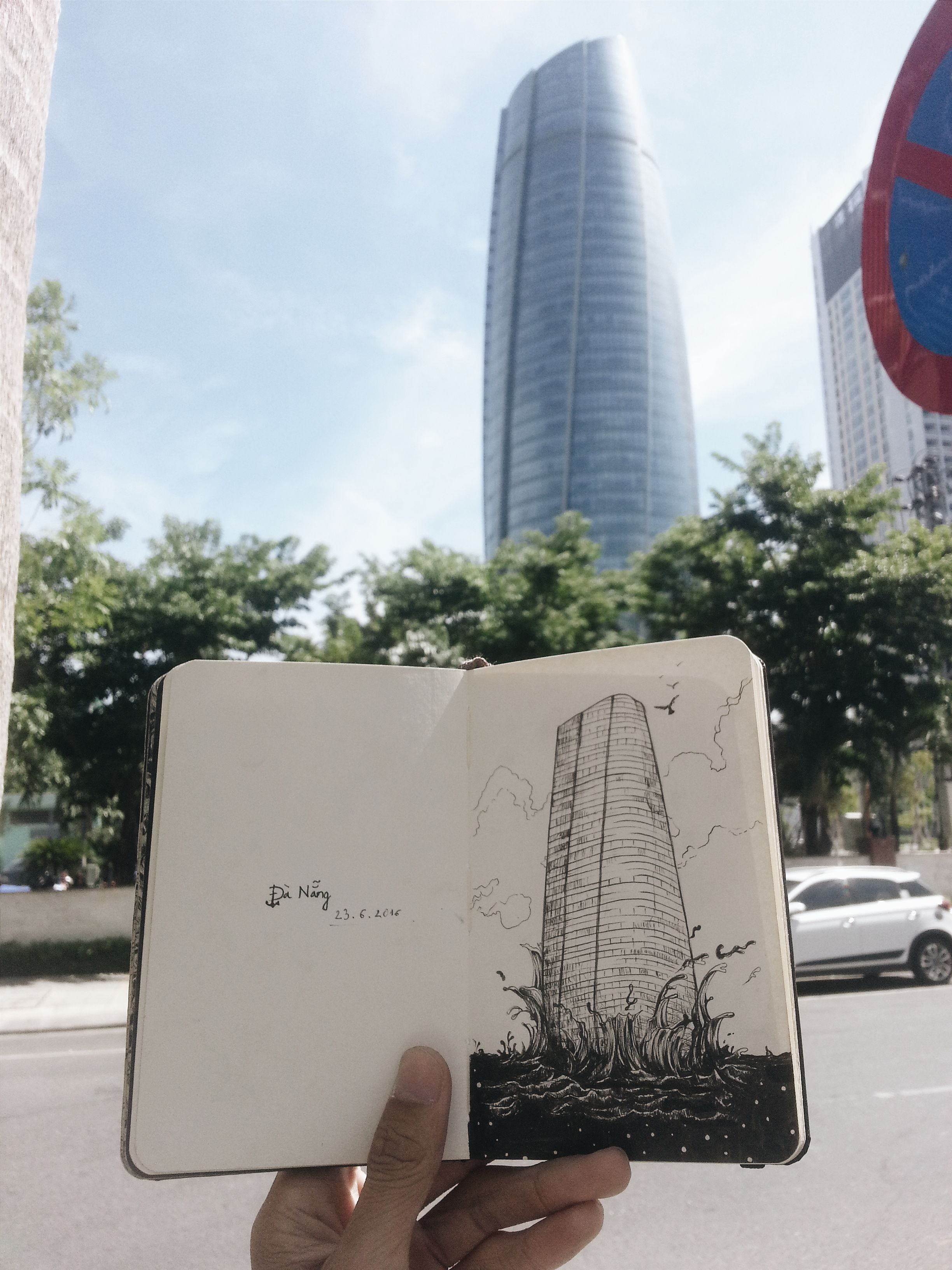 Moleskine Sketchbook Located: Da Nang, Viet Nam.