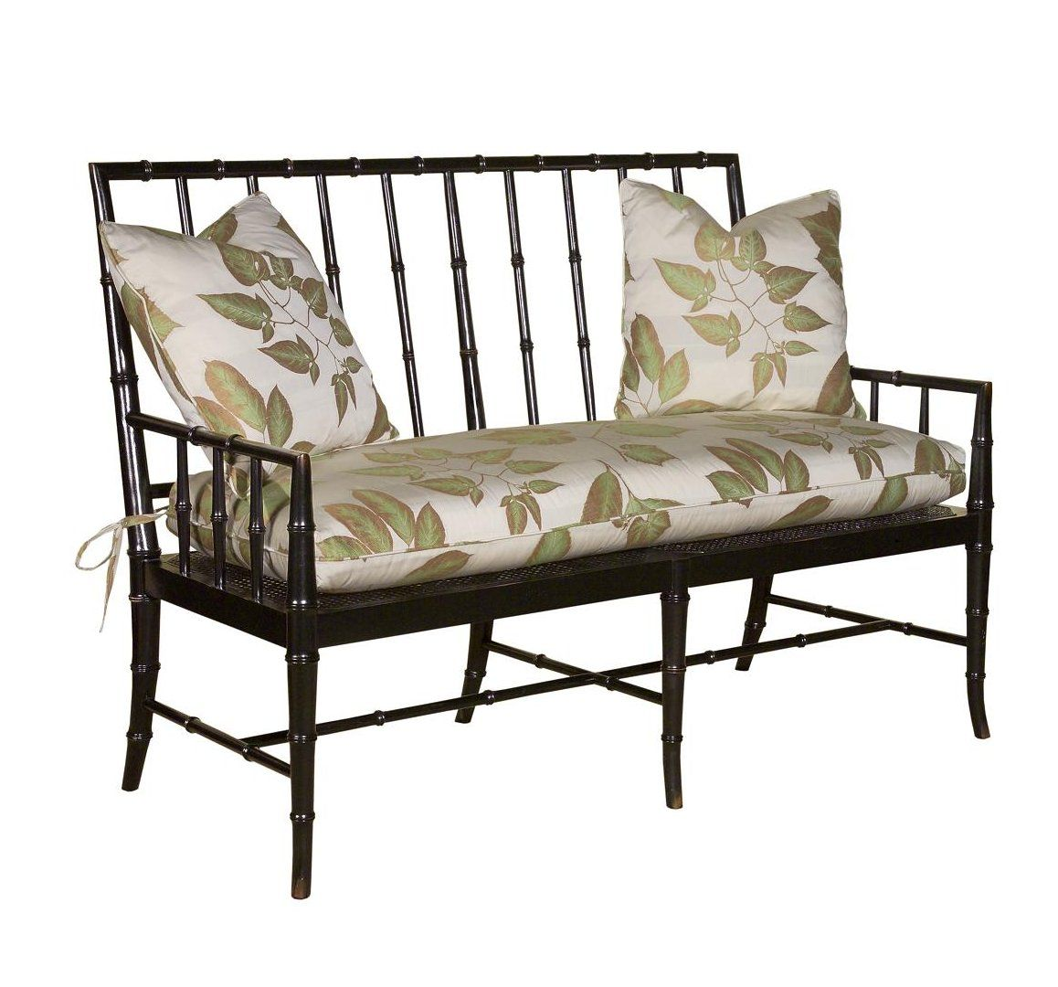 Woodbridge Regency Faux Bamboo Bench 56x26x40 In Black Or Red Finishes Need To Visualize