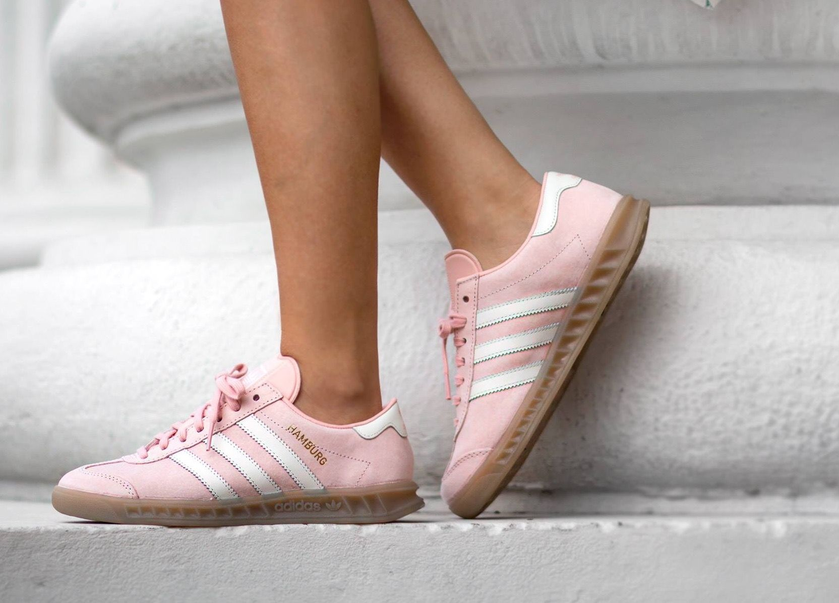 women's raw pink adidas hamburg