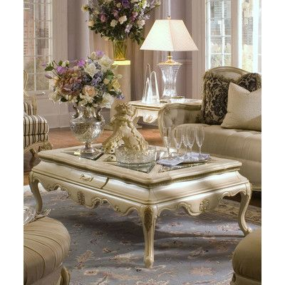 Platine De Royale End Table In Cream Michael Amini Aico Furniture Home Gallery Stores End Tables Coffee Table With Storage Coffee Table