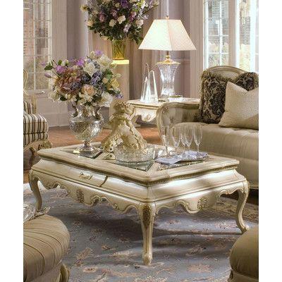 Michael Amini Lavelle Rectangular Cocktail Table Set In Blanc Muebles Sala Muebles Articulos De Decoracion