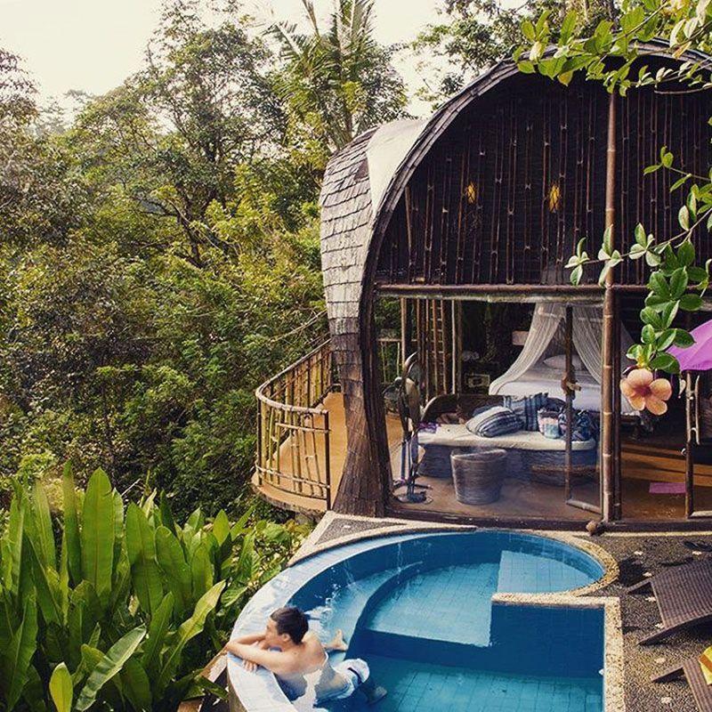 13 Vila Romantis Di Bali Dengan Private Pool Di Bawah Rp 1 Juta Ubud Liburan Romantis Bali