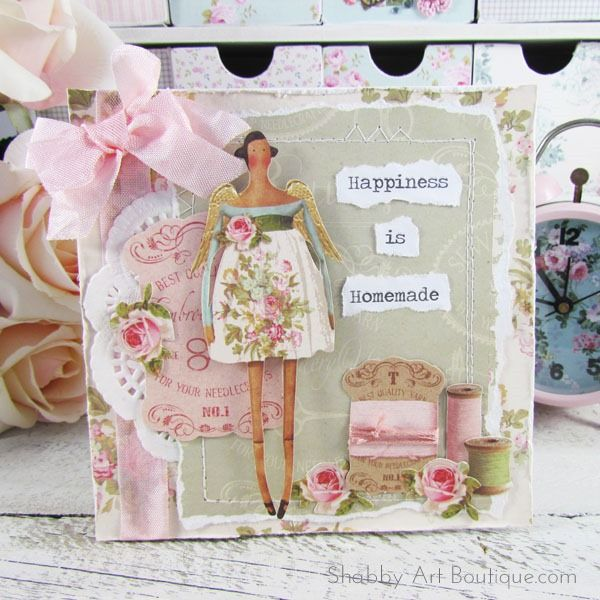 Tilda Happiness is Homemade card by Shabby Art Boutique | craft ...