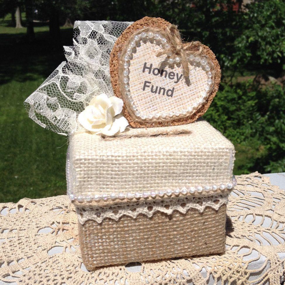 Rustic Honey Fund Box,Wedding Honey Fund,Honey Fund,Rustic Wedding ...