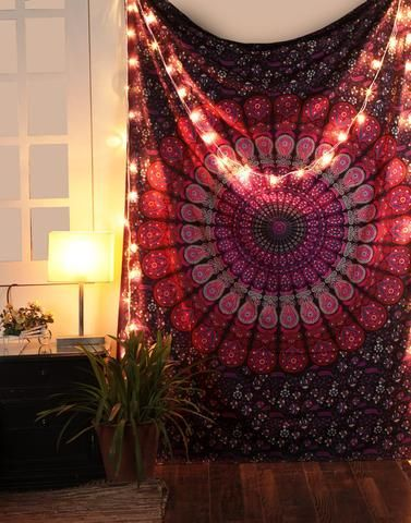 Peacock mandala cool college wall tapestry hippie dorm room tapestries images