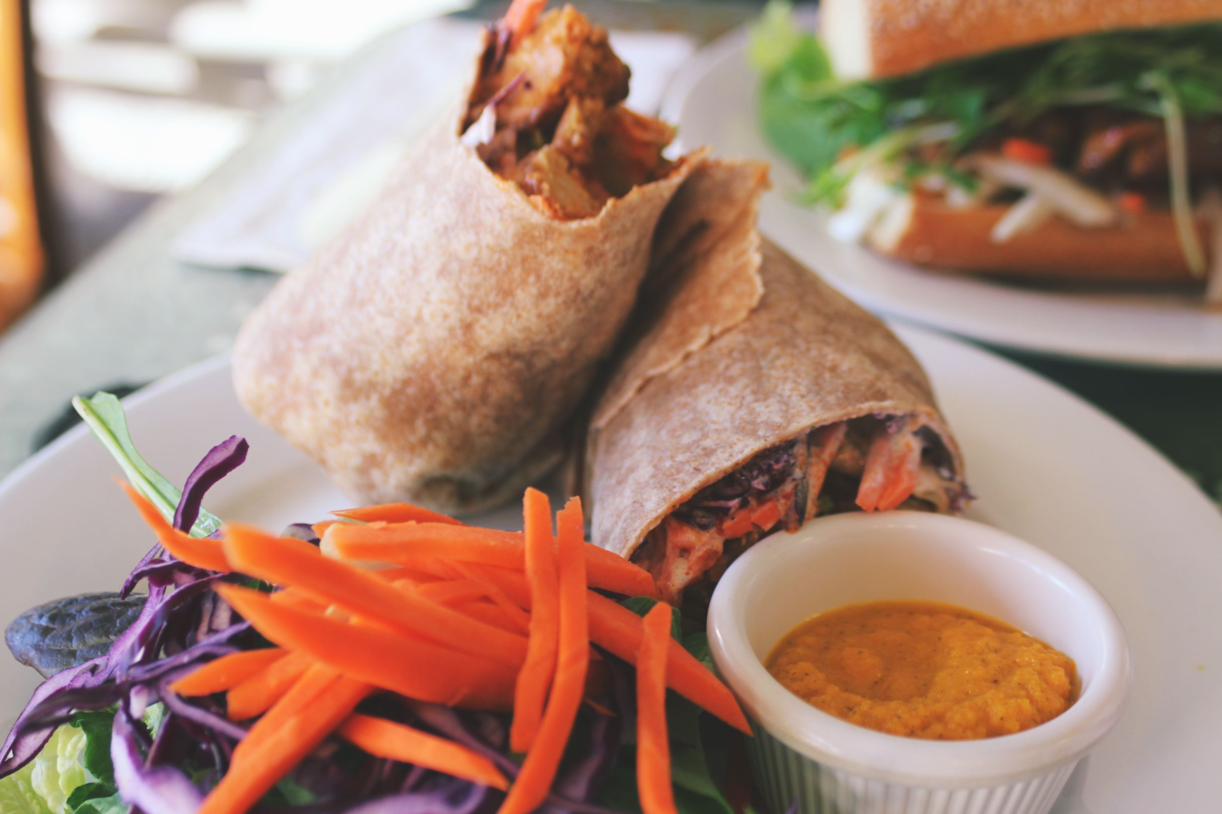 Review Of This Yummy Bbq Tempeh Wrap From Good Karma Red Bank Nj