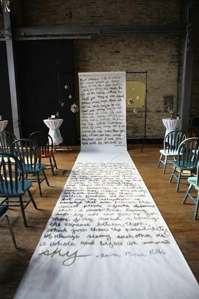 Amazing Wedding Aisle Runner Ideas Modwedding Aisle Runner
