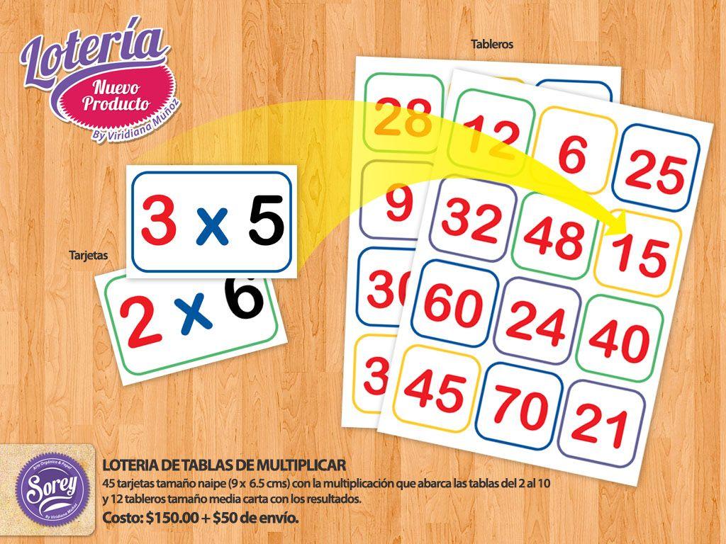 Loteria De Tablas De Multiplicar Loteria Pinterest Math