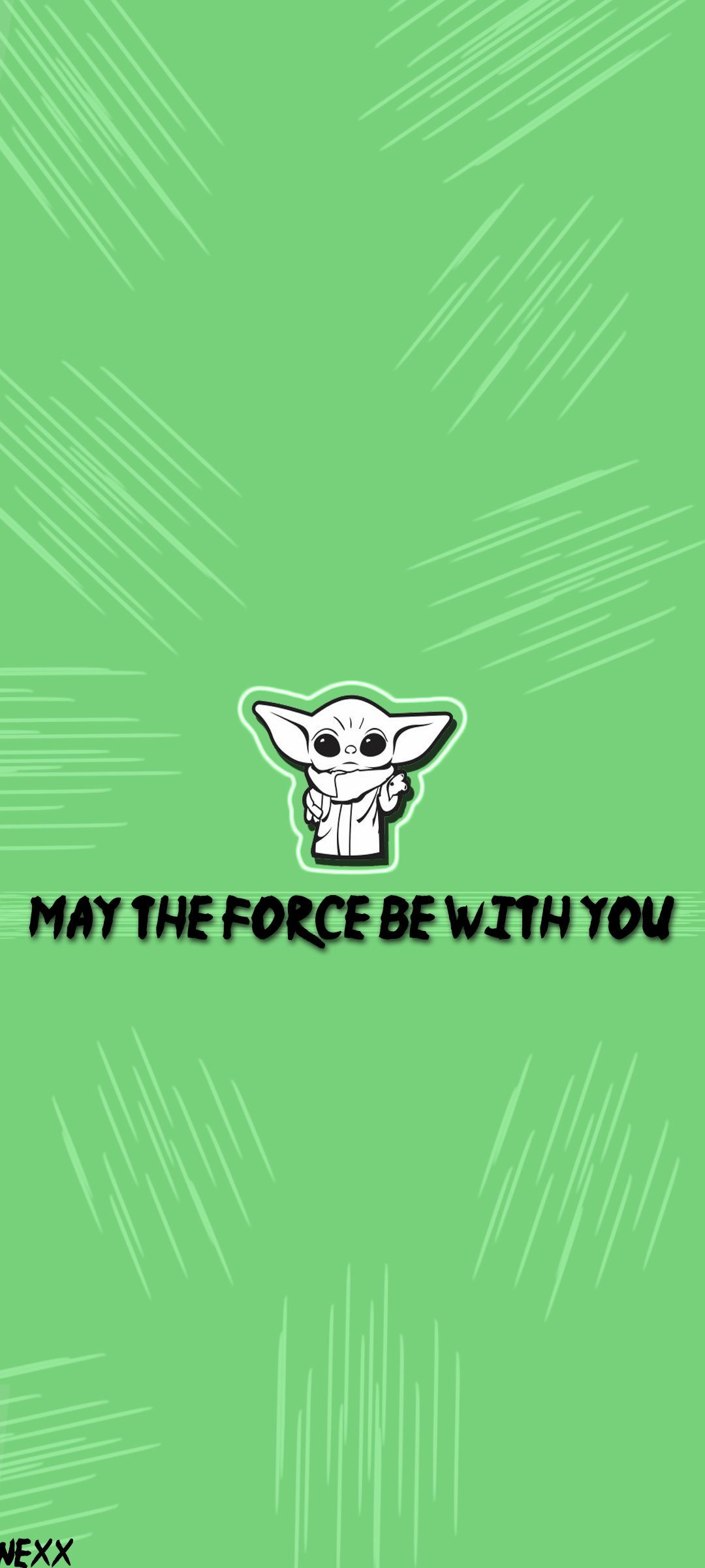 Wallpaper Yoda May The Force Be With You