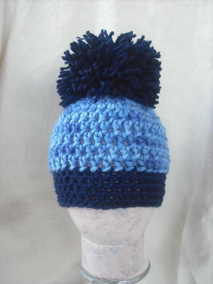 81ee60cb541 30 Amazing Crochet Pom Pom Hat Ideas