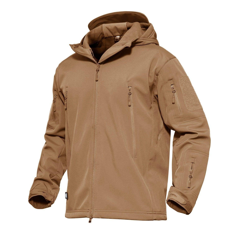 MAGCOMSEN Mens Waterproof Tactical Jackets Winter Outdoor Camouflage Softshell Jacket Fleece Lining