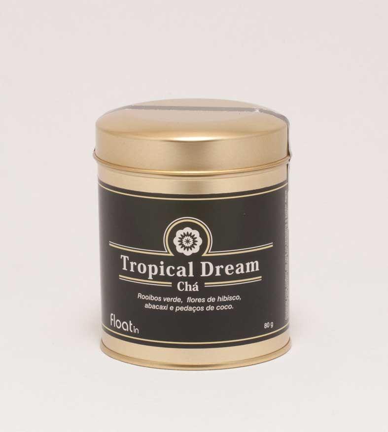 Um chá relaxante, rico em originalidade e sabor, com uma irreverente combinação que o vai transportar para um sonho tropical.  Ingredientes: Rooibos verde, pedaços de maçã, flores de hibisco, rosa mosqueta, abacaxi e pedaços de coco.   Pode adquirir as embalagens de chá na recepção do Float in Spa, na opção de saquetas individuais ou a granel. http://www.float-in.pt/loja/cha-tropical-dream.html