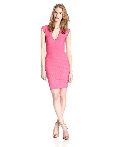 5e2768e29ab French Connection Womens Miami Dani Cap Sleeve VNeck Dress Keywest Coral 12  ** Continue to the product at the image link.(This is an Amazon affiliate  link ...