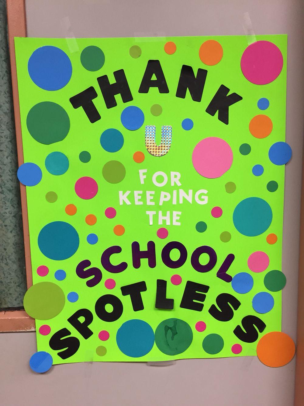 Custodian door decorations | Teacher's appreciation door ...