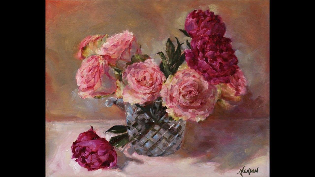 زهور الفنانة الواقعية Holly Rae Henson Painting Art