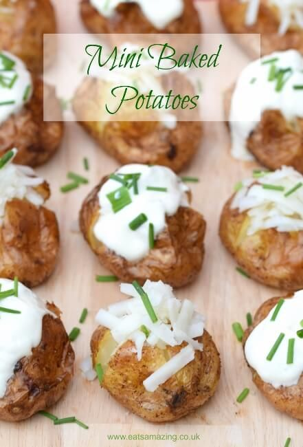 Mini baked potatoes recipe fun and easy party food idea for mini baked potatoes recipe fun and easy party food idea for bonfire night and the festive season from eats amazing uk forumfinder