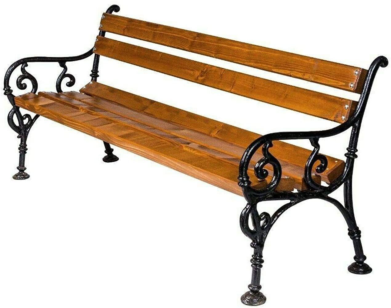 Naka24 Parkbank Gartenbank Gestell Massivholz Kiefer 160 Cm 01150