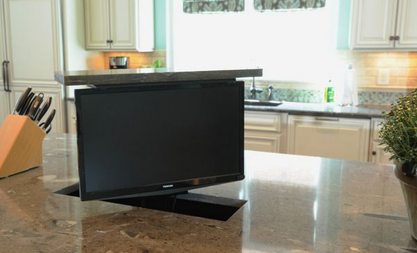 Kitchen Tv Counter Top Tv In Kitchen Tv Swivel Concepts House