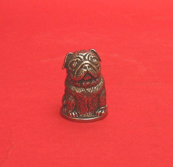 Pug Dog Russian Doll Thimble Pewter Collectors Thimble Pug Gifts