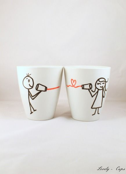Love Tassen, Becher, sag love durch die Blechdose von Lovely-Cups ...