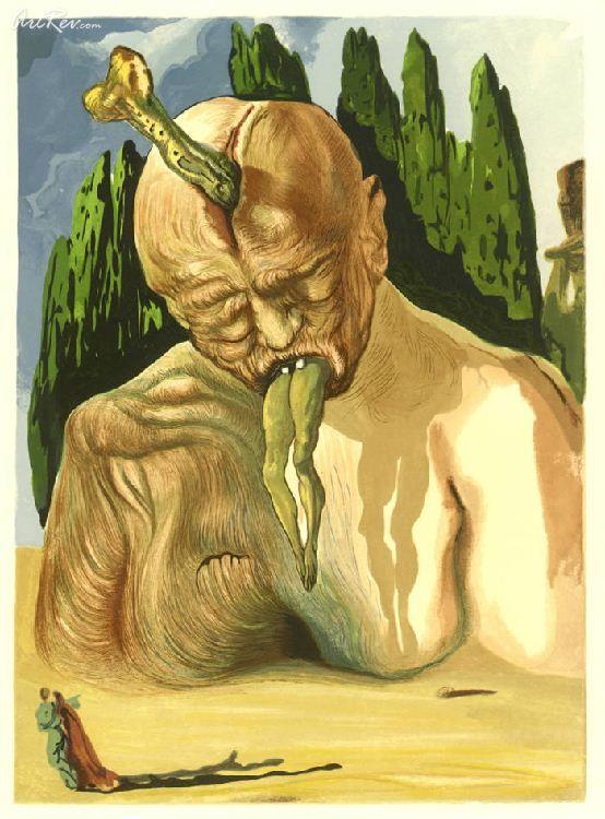 Dalí, Inferno canto XXXIV