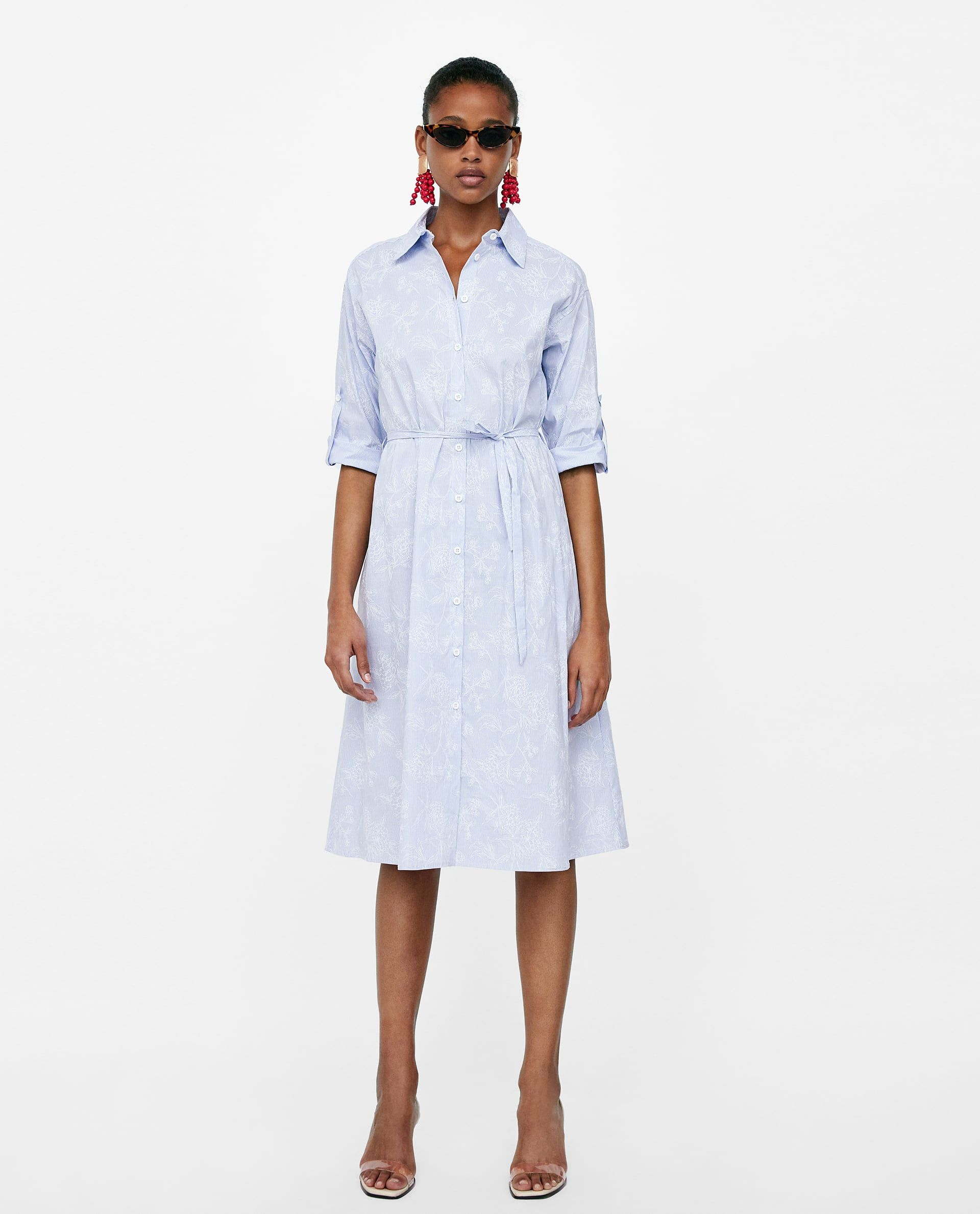 11ac8cab110e Image 1 of STRIPED SHIRT DRESS from Zara | Want in 2019 ...