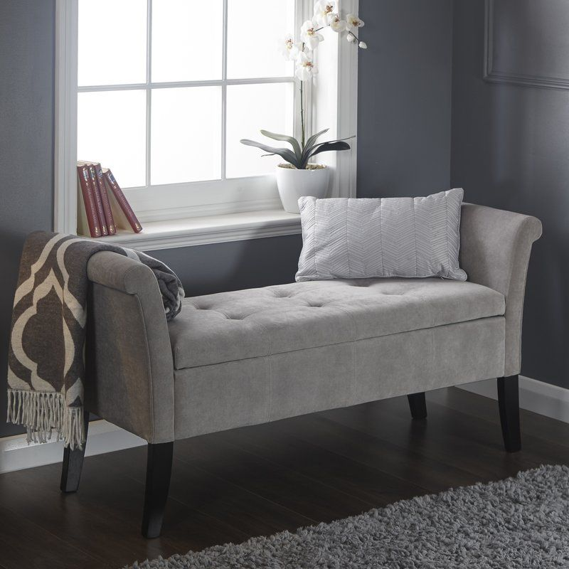 Best Andesine Upholstered Storage Bedroom Bench In 2020 400 x 300