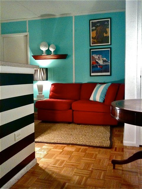 Red And Teal Living Rooms Google Search