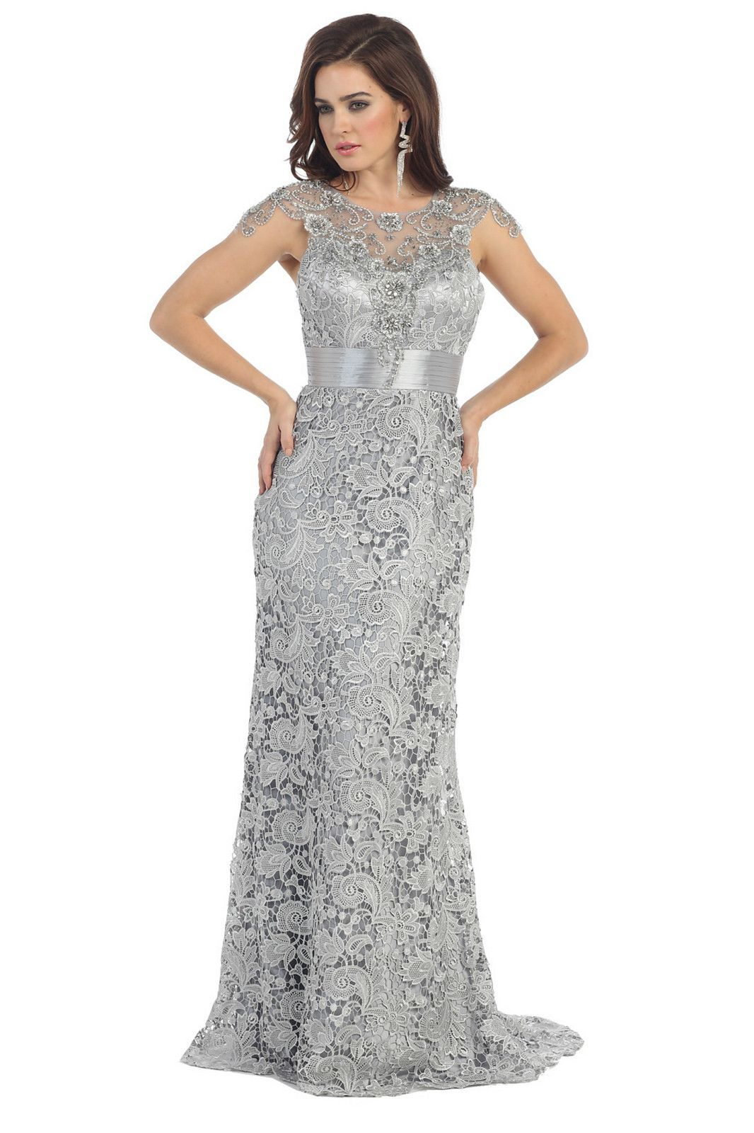 Long Lace Mother of the Bride Dress 2018 | Vestidos mama | Pinterest ...