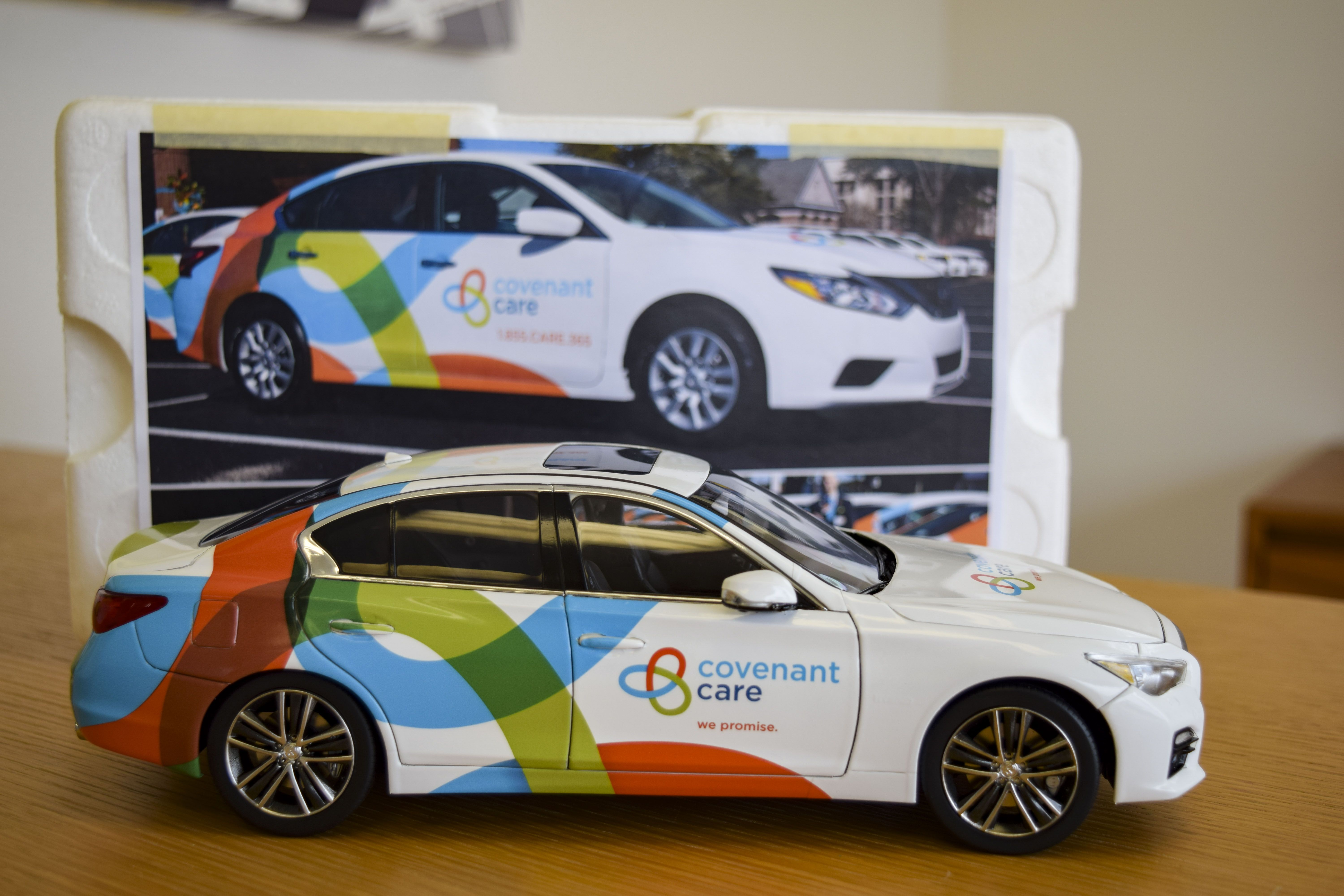 Mini carwrap for Covenant Care by Pensacola Sign in