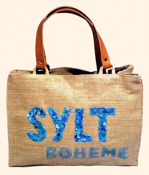 """""""Sylt-Boheme Blau"""" Beach bags www.sylt-boheme.de"""