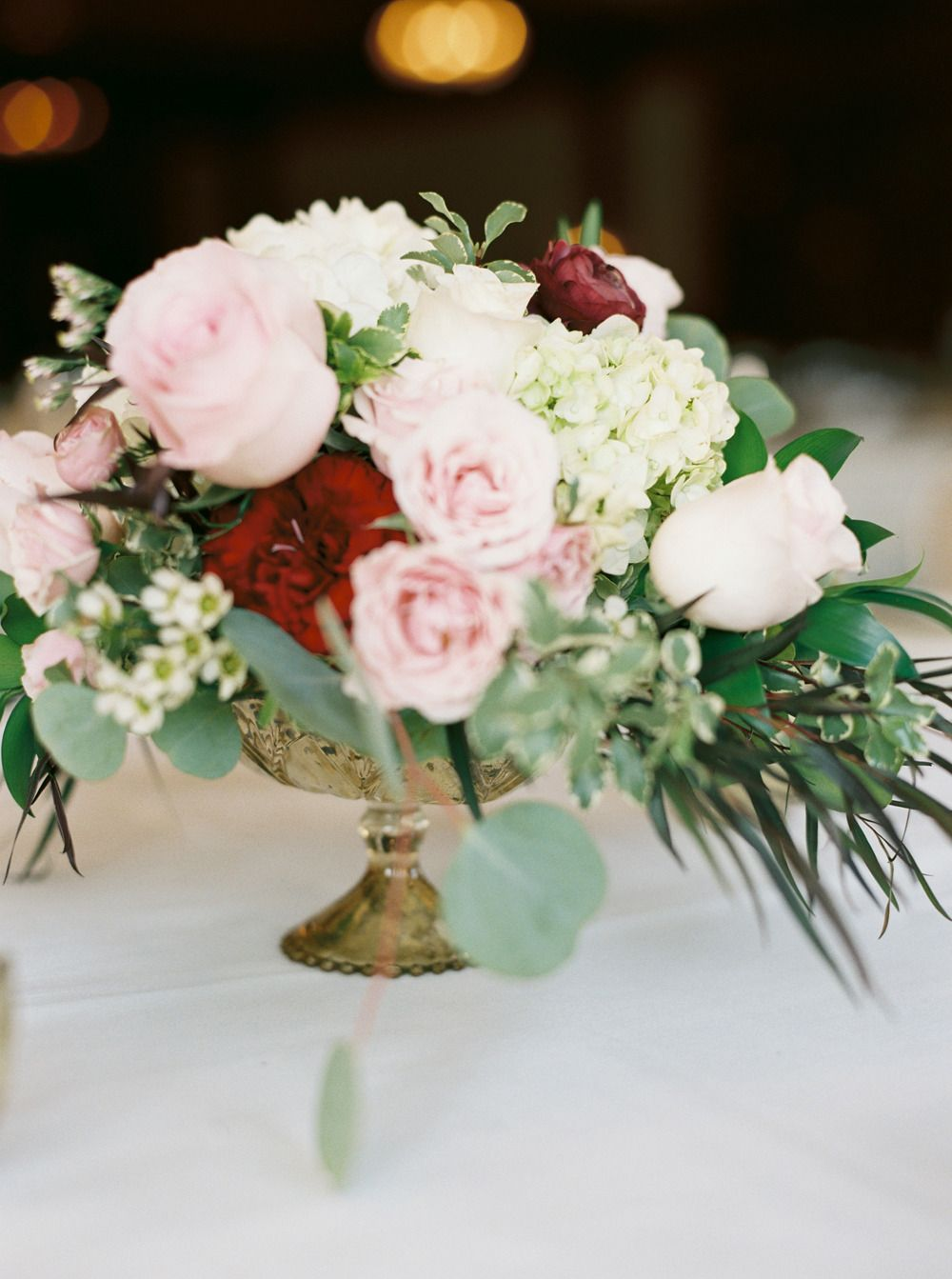 Green White Pink Bouquet