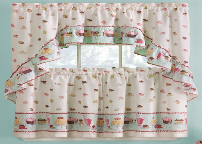 Cupcake Curtains For Kitchens