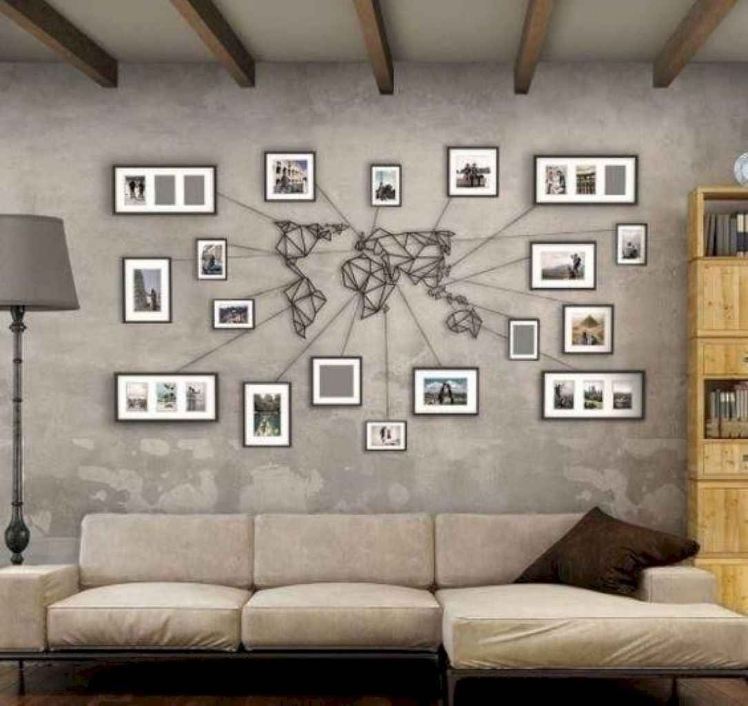 Creative And Inovative Wall Art And Decor Ideas On A Budget 26 In 2020 Map Wall Decor World Map Wall Art Decor