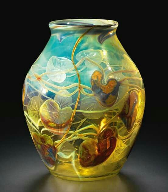 Yes, please Tiffany Studios, Cameo Lily Pad Vase, c 1900-1903, sold on Sotheby's for $47,500