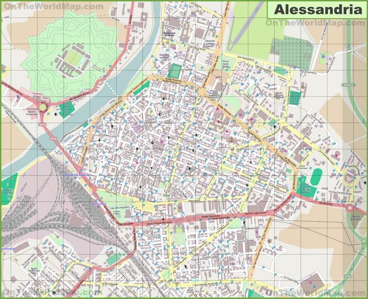 Large detailed map of Alessandria Maps Pinterest Italy and City
